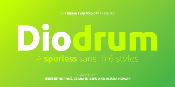 Diodrum font family.