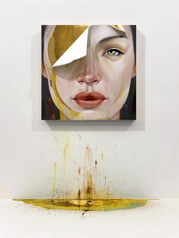 Full view of a portrait painting by New York City based artist, Erik Jones.