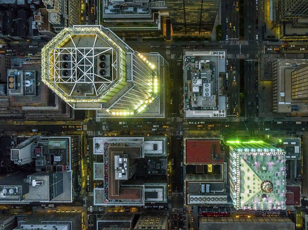 Image of a series of New York city aerial photography.