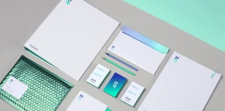 Medspire - stationery and brand identity design by Polish Foxtrot Studio.