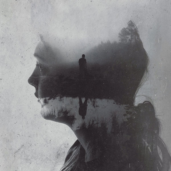 To find your courage, you must first find your fears. Stylish double exposure effects.