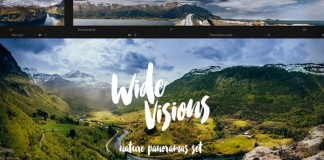 Wide Visions, a nature panorama set of breathaking landscapes for download.