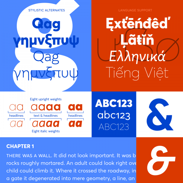 Averta is a comprehensive font family with multi language support.