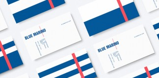 Blue Marino business cards.