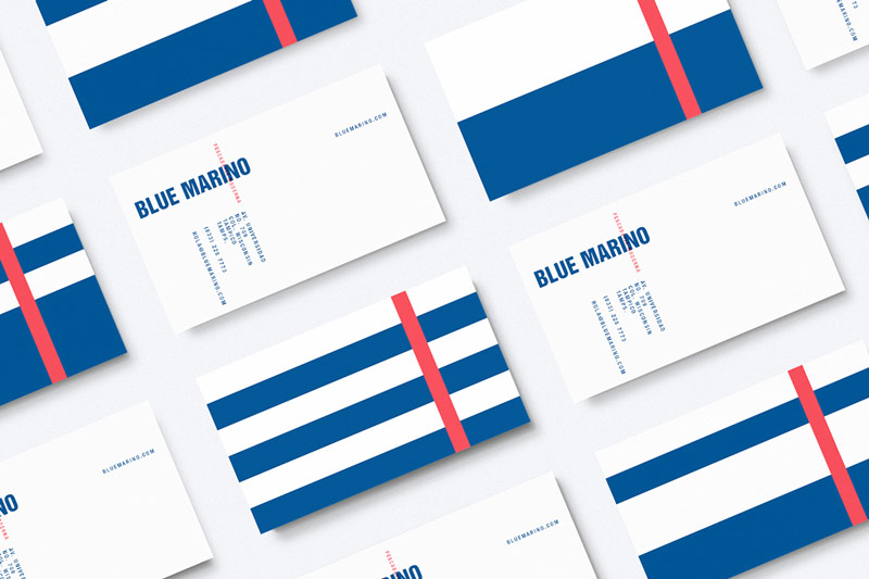 Blue Marino – Fish Market Brand Identity Design