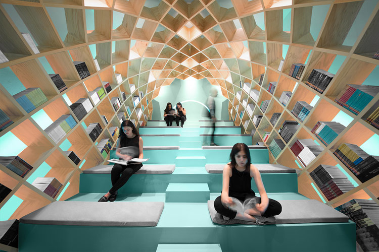 Conarte Library – Interior Design Concept by Anagrama