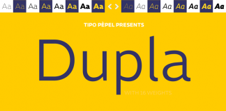 Dupla, a grotesk sans serif font family designed in 2015 by Josep Patau of foundry Tipo Pèpel.