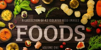 Foods Volume 1, a collection of 43 isolatated food images.