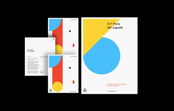 Graphic and communication design including printed collateral for Ciudad de juguetes.