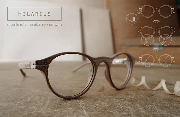 hilarius handmade glasses of wood frames made in poland