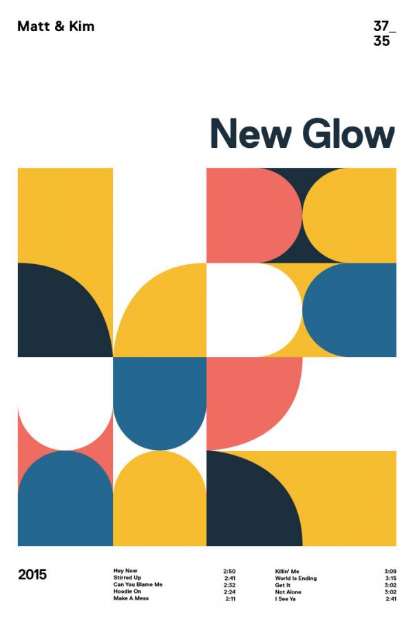 Matt and Kim – New Glow – Minimalist poster design.