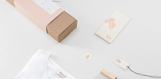 Packaging and some branding materials of the minimalist fashion identity developed by studio Futura for Japanese fashion line, Hikeshi.