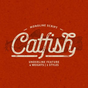 Catfish Font – Monoline Script Typeface with a Classic Touch