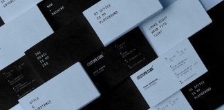 The Costume Code business cards designed by The Bakery design studio.