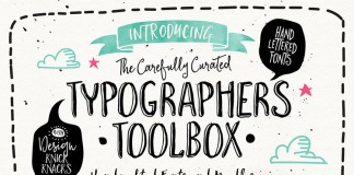 The Typographer's Toolbox, a collection of handcrafted fonts and doodles by Nicky Laatz for the typographic enthusiast.