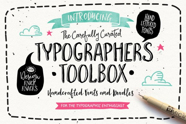 Typographer's Toolbox – Handcrafted Fonts Collection