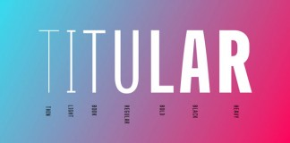 Titular, a condensed Sans Serif typeface for headings and subheadings in newspapers, magazines, and posters.