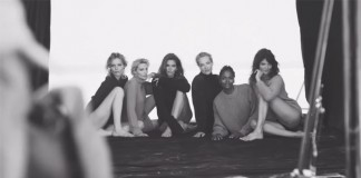 The Reunion, an artistic video in black and white featuring a photo shoot by Peter Lindbergh of famous models of the 1990s.
