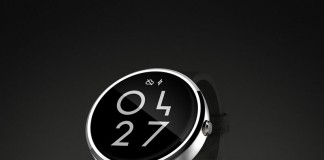 A special design smartwatch user interface based on simple black and white as well as minimalist numbers and letters.