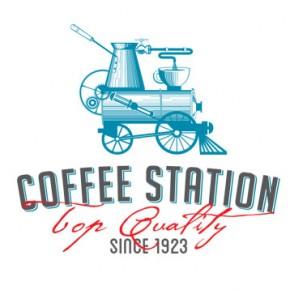 Coffee Shop Branding by Olena Fedorova for Coffee Station