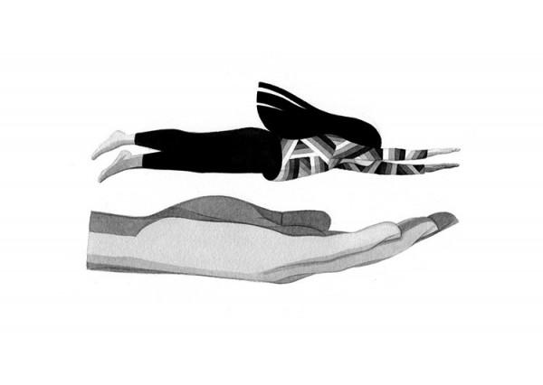 Imaginative drawings in simple black and white created by London based illustrator Eleni Kalorkoti.