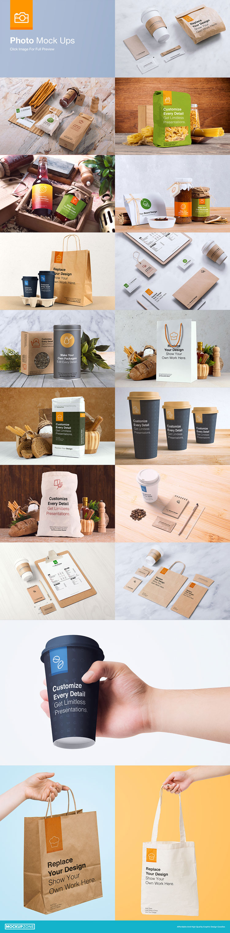 Coffee Branding and Packages MockUp