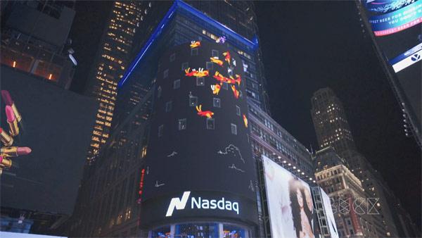Nasdaq Billboard motion graphics.