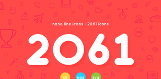 2061 nano line icons AI, EPS, and SVG vector files.