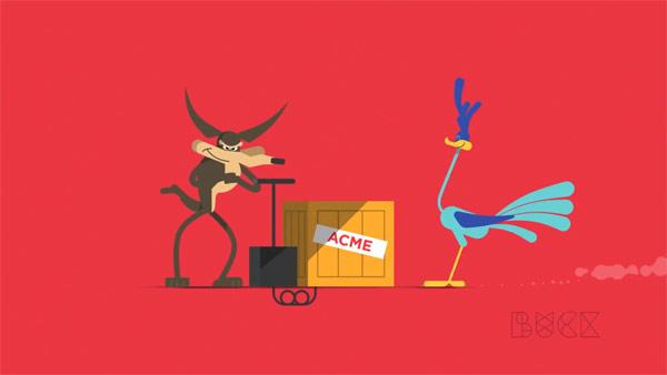 Cartoon animation and motion graphics.