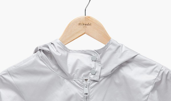 Coat hanger with logo print.