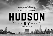 Hudson NY, a display font family by Andrew Footit.