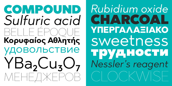 The Abrade type family supports multiple languages and diverse alternate characters.