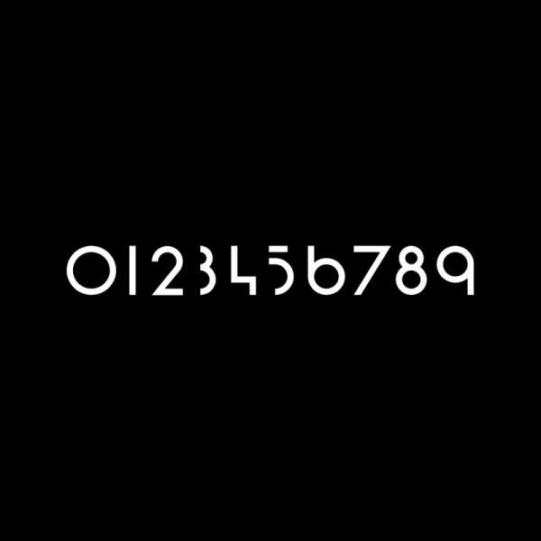 Craig Ward has created these custom numerals especially for this UI project.