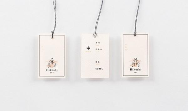 Japanese cloting brand – hang tags.