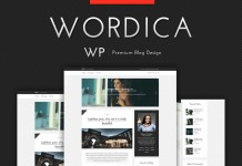 WordPress elegant blog theme from Wordica.