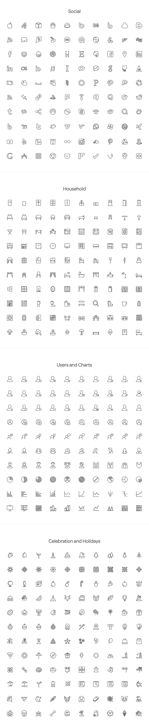 Squid Ink Line Icon Pack – 2000 Icons for Professional Use