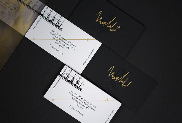 The unique business cards of the bar.