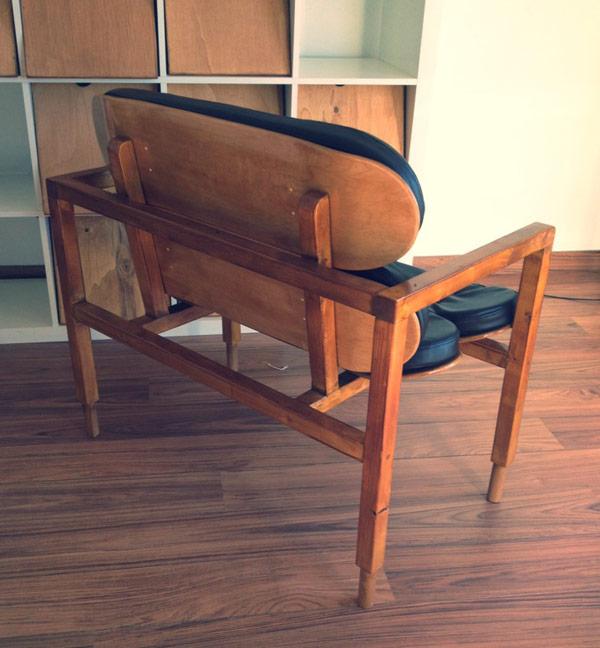 Backside of the finished DIY designer chair by Carlos Cardoso, a Lisbon, Portugal based senior designer.