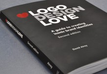 Logo Design Love by David Airey, the second edition of the paperback version with 240 pages. Publisher: Peachpit Press