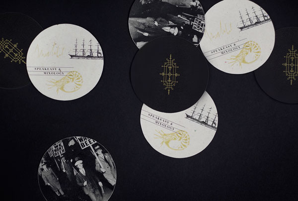 Some coasters with the seafaring theme.