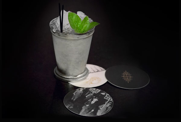 A cool cocktail on the coasters.