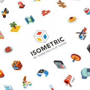 Isometric Flat Icons for Download