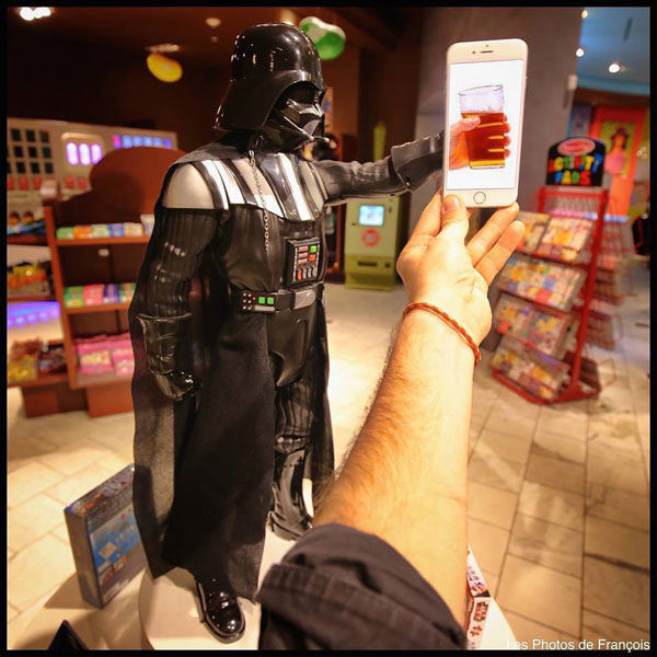 Let's raise our glasses with Darth Vader.