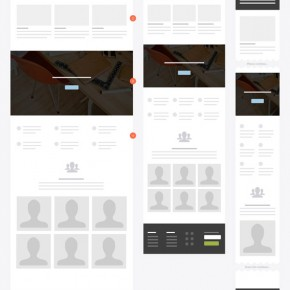 Responsive Website Wireframe Kit from UX Kits