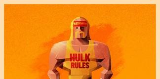 The American wrestling star, Hulk Hogan.