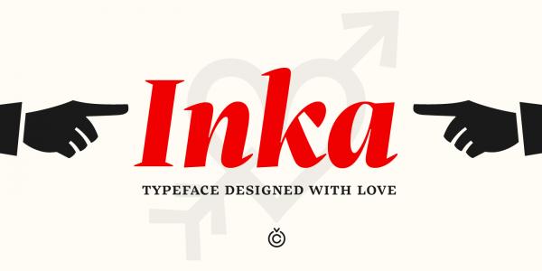 The Inka font family, a typeface by Samuel Čarnoký of foundry Carnoky Type.