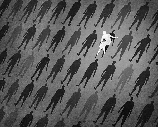 Editorial Illustrations by Daniel Stolle for Psykologi Magazine