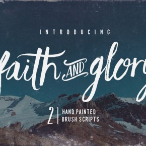 Faith & Glory – Two Hand-Painted Brush Fonts