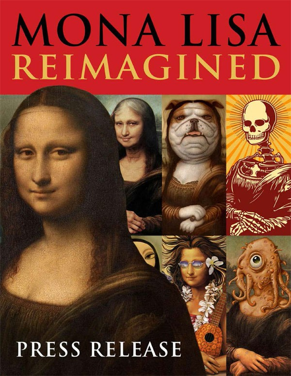 Mona Lisa reimagined by hundreds of the world's most innovative artists, a book by Erik Maell.