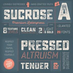 Sucrose – Distessed Font from Yellow Design Studio